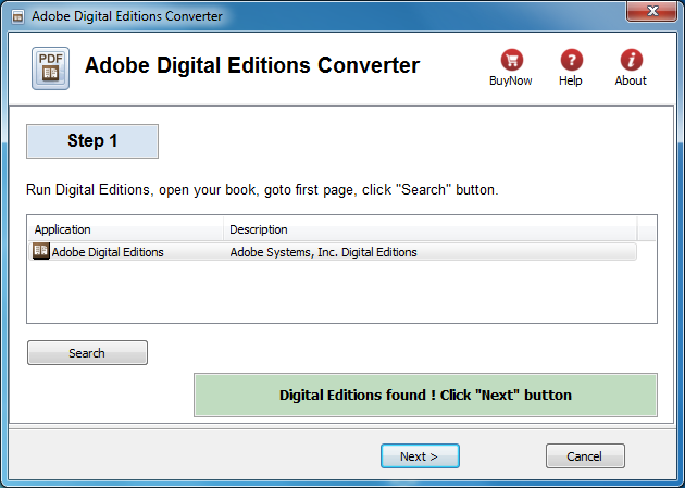 Convert Adobe Digital Editions ebook to pdf format - epub