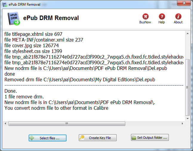 ePub DRM Removal - Remove Adobe ebook DRM Protection