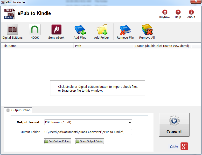 Windows 7 ePub to Kindle 2.5.1212 full
