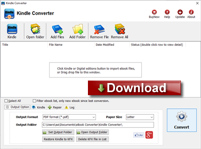 convert ebook to pdf free download