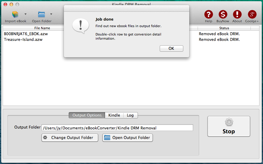 Kindle DRM Removal Mac - Remove Kindle ebook DRM protection Macosx