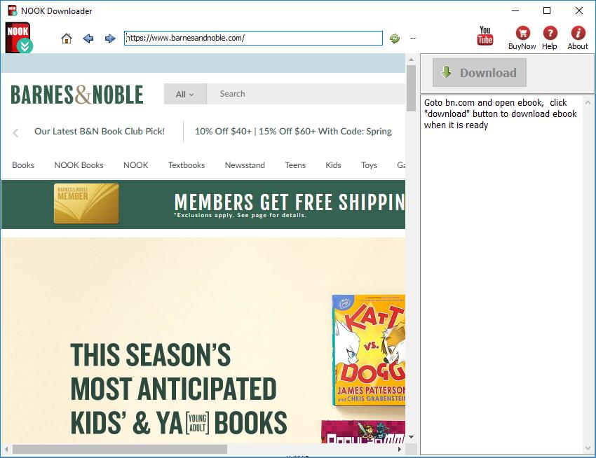 NOOK Downloader - download NOOK ebook to PDF