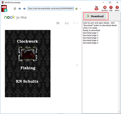 How to download NOOK Barnes Noble ebook to pdf?