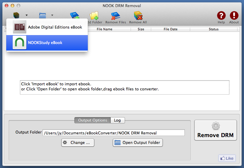 Nook DRM Removal Mac - remove drm from B&N ebook