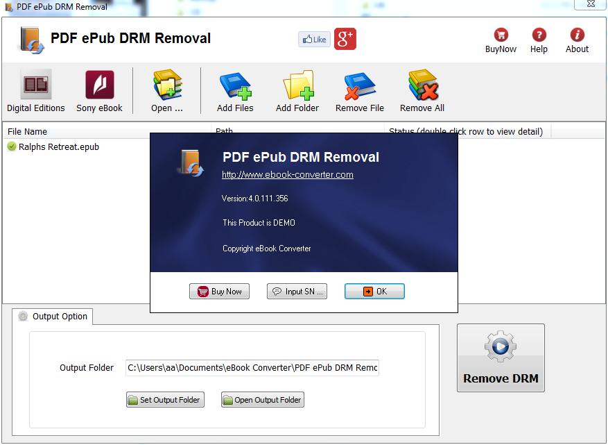 PDF DRM Removal - Remove PDF DRM Protection - Remove ePub DRM Protection