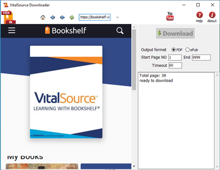 VitalSource Downloader Is Tools To Download Bookshelf